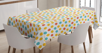 Colorful Dot Pattern Tablecloth