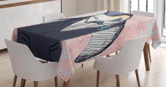 Funny Gentleman Penguin Tablecloth
