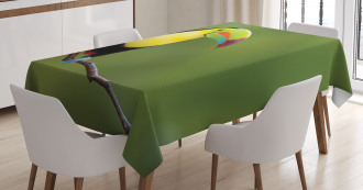Keel Billed Toucan Tablecloth