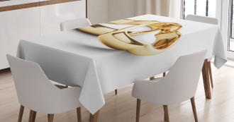 Heart Shaped Rings Tablecloth