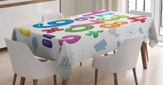 Math Signs Education Tablecloth