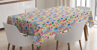 Tulips Roses and Pansies Tablecloth