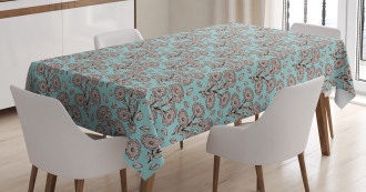 Romantic Garden Art Tablecloth