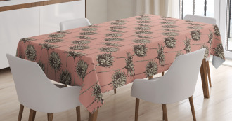 Retro Bouquet of Daisies Tablecloth