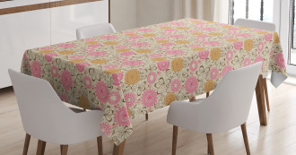 Geometric Lines Curves Tablecloth