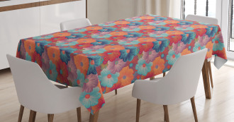 Overlapped Flower Petals Tablecloth