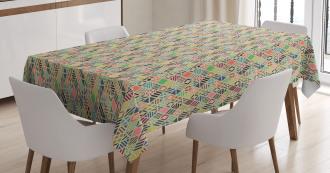 Patchwork Art Rhombus Tablecloth