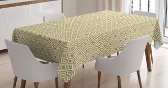 Rhombus-Like Pattern Tablecloth