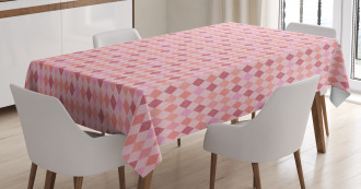 Pink Diamond Shape Tablecloth