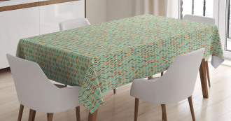 Ethnic Zigzag Pattern Tablecloth