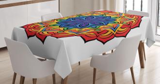 Boho Flowers Tablecloth