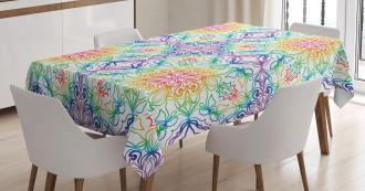 Asian Flower Tablecloth