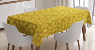 Stylized Ornamentals Tablecloth