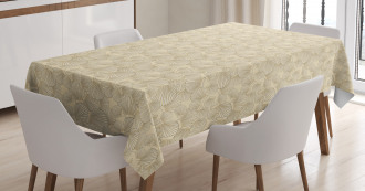 Interlacing Clams Motif Tablecloth