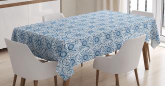 Dutch Floral Tile Tablecloth