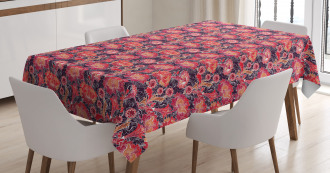 Asian Oriental Flowers Tablecloth