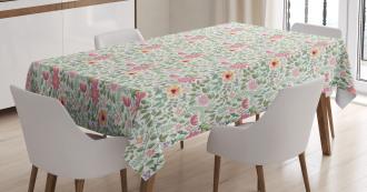 Wildflower Botanic Theme Tablecloth