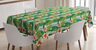 Exotic Hawaiian Botanic Tablecloth