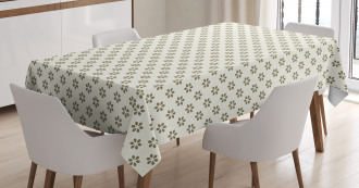 Abstract Stylized Flower Tablecloth