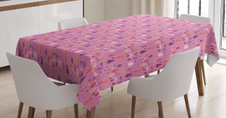 Nature Trees Animals Tablecloth