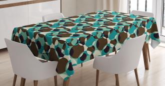 Grungy Geometric Circles Tablecloth