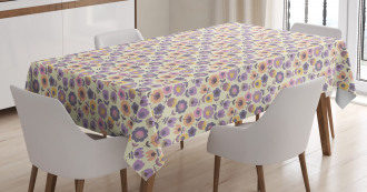 Graphic Tulip and Daisy Tablecloth