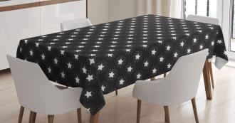 Grungy Stars Rays Theme Tablecloth