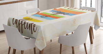 Caffeine Quote Retro Mug Tablecloth