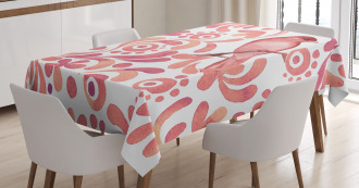 Salmon Colored Pattern Tablecloth