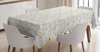 Abstract Lobed Leaves Tablecloth