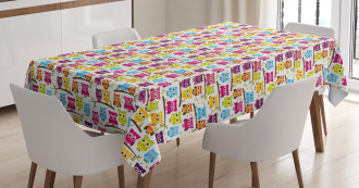 Winking Long-Eared Owl Tablecloth