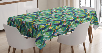 Scarlet Macaw Parrots Tablecloth