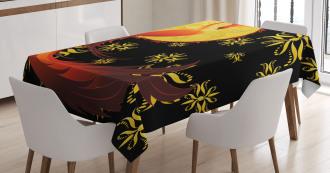 Phoenix and Foolmoon Tablecloth