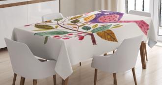 Scarlet Firethorn Flower Tablecloth