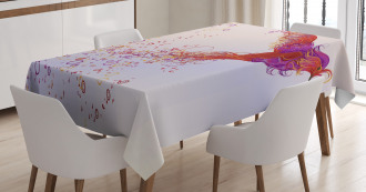 Curly Feather Hummingbird Tablecloth
