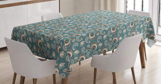 Vintage Abstract Tablecloth