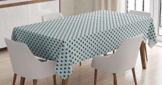 Grungy Hearts Tablecloth