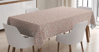 Ottoman Curls and Dots Tablecloth