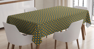 Geometric Tile 70s Style Tablecloth