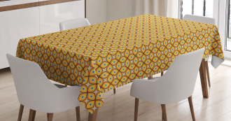 Geometric Shapes 60s Tablecloth