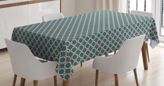 Round Shapes Squares Tablecloth