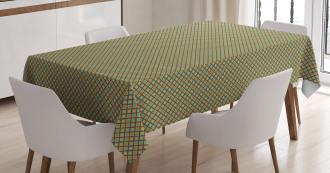 Simple Rhombus Cells Tile Tablecloth