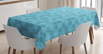 Maritime Seashells Tablecloth