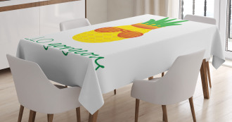 Doodle Pineapple Tablecloth
