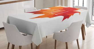 Low Poly Maple Leaf Tablecloth