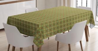 Rhombus Leaves Tablecloth