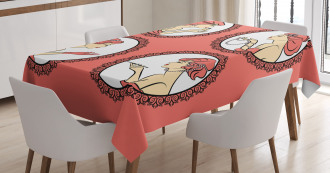 Fashion Portraits Tablecloth