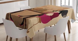 Women Chatting Tablecloth