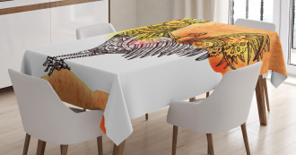 Mechanical Rooster Tablecloth