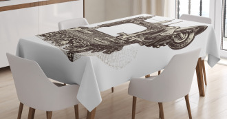 Old Sewing Machine Tablecloth